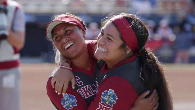 The Oklahoma Sooners beat the Florida Gators in Game 1 of the Women's College World Series in 17 innings. It was the longest championship series game in NCAA history.