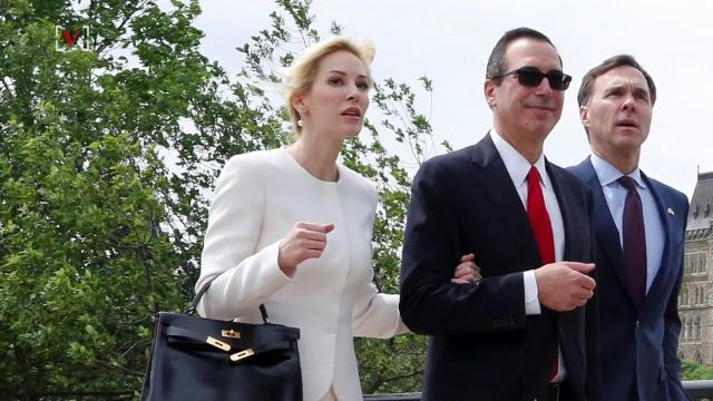 President Donald Trump and first lady Melania Trump were just a few of the A-list attendees to the wedding of White House Secretary Steve Mnuchin. Maria Mercedes Galuppo (@mariamgaluppo) has more.