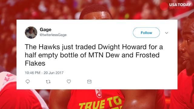 After Dwight Howard's trade to the Hornets, fans on Twitter had a lot of jokes at Howard's expense.