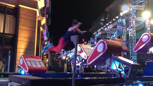 USA TODAY reporter Carly Mallenbaum takes a stab at the newest rendition of the 'American Ninja Warrior' obstacle course, touted to be the hardest to date.