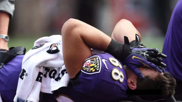 The Baltimore Ravens released tight end Dennis Pitta after he suffered a hip injury.