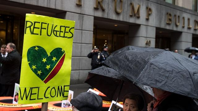 Refugee arrivals in the U.S. have dropped by almost half since President Trump took office — but it's not that simple. Video provided by Newsy