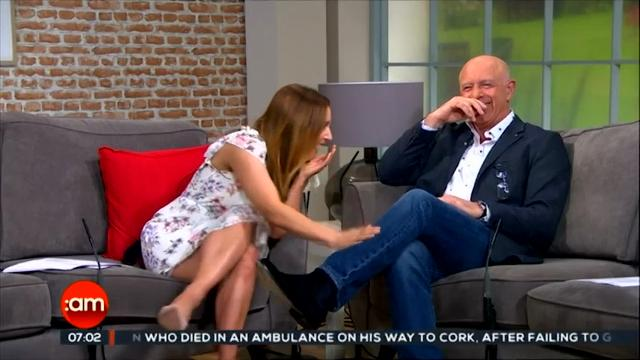 An Irish TV weather reporter on Friday was caught off guard when a gust of wind swept him off-screen, turning his umbrella inside out. (June 26)