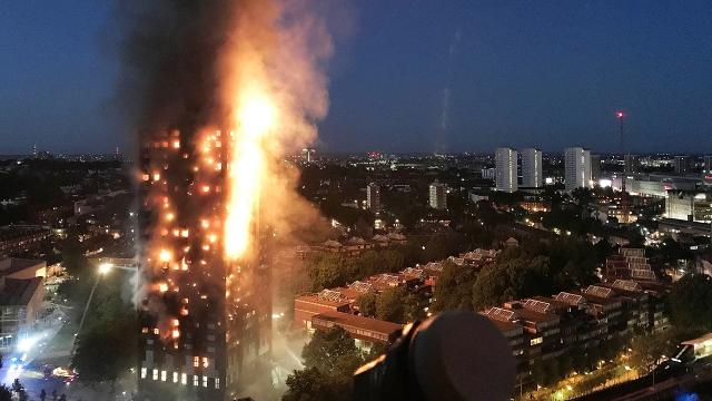 Massive fire at London apt tower leaves several dead, more feared